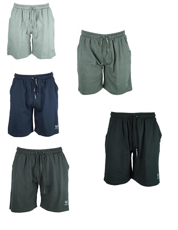 Pantalone Corto Bermuda Uomo Cotone Leggero Be Board Taglie Forti
