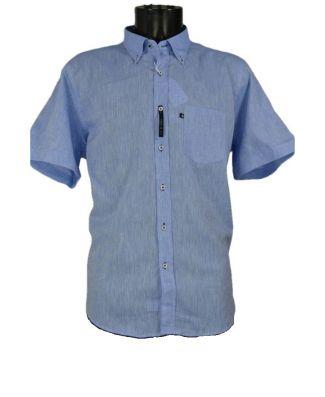 Blusalina Camicia Manica Corta 100% Cotone Leggero Uomo