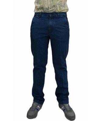 Pantalone Jeans Uomo Cotone Elasticizzato Leggero Sea Barrier Art Blu Ray