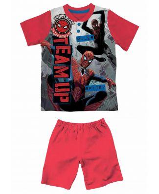 Spiderman Pigiama Bambino Manica Corta  Puro Cotone Leggero