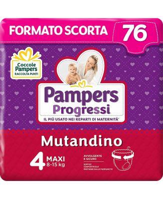 Pampers Progressi Mutandino Maxi  76 Pannolini  Taglia 4 (8-15Kg)