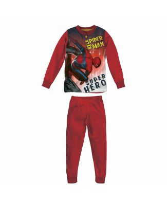 Marvel Pigiama Spider-Man Lungo Interlock Serafino Bambino