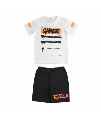 Dodipetto Completo T-Shirt e Pantalone Corto Cotone Bambino