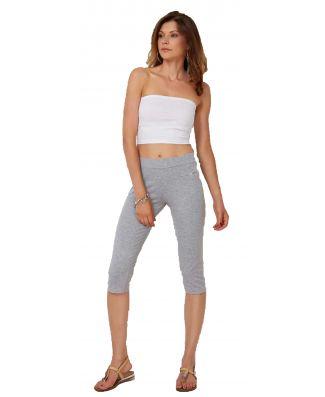 Pantalone Pinocchietto Donna Cotone Elasticizzato Made In Italy Oxigym BL532