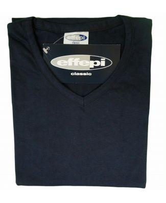 Effepi Set 2 T-Shirt Scollo a V in Puro Cotone Uomo