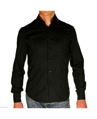Tipos Camicia Manica Lunga Sfiancata Cotone Elasticizzato Uomo