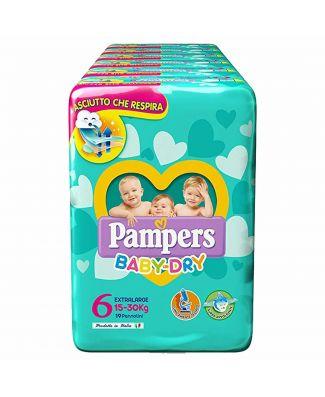 Pampers 76 Pezzi Pannolini Baby Dry Taglia 6