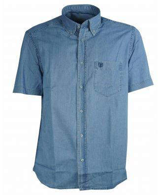 Camicia Uomo Sea Barrier Manica Corta Jeans Leggero Art Jangol