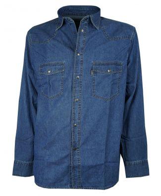 Camicia Uomo Sea Barrier Manica Lunga Jeans Art New Pecos