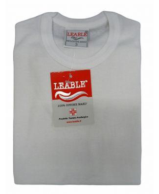 Set 3 Pezzi T - Shirt Bambino Manica Corta Cotone Leable Art 1431 Bianco