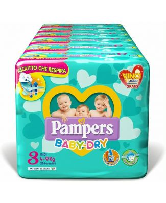 Pampers 112 Pezzi Pannolini Baby Dry Taglia 3