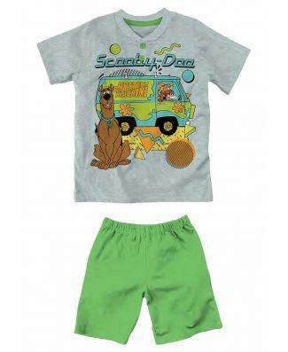 Scooby-Doo! Pigiama Manica Corta Puro Cotone Leggero Bambino
