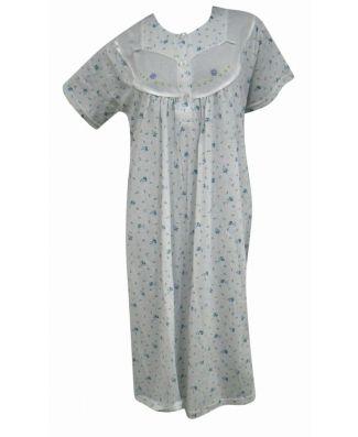 Camicia da Notte Donna Manica Corta 100 % Cotone Fantasie Assortite
