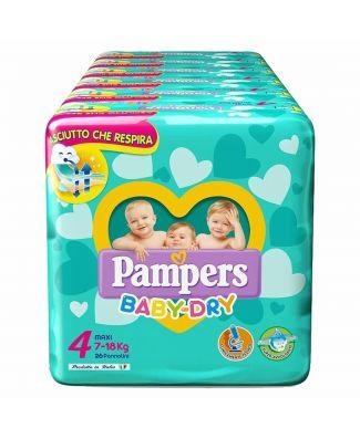 Pampers 104 Pezzi Pannolini Baby Dry Taglia 4