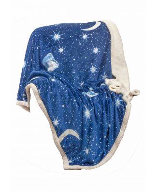 Desideri di Casa Coperta Plaid Moon Singolo 125X155cm