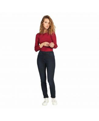 Iber Pantalone Aleida Lungo Jeans Vestibilità Slim Fit Donna