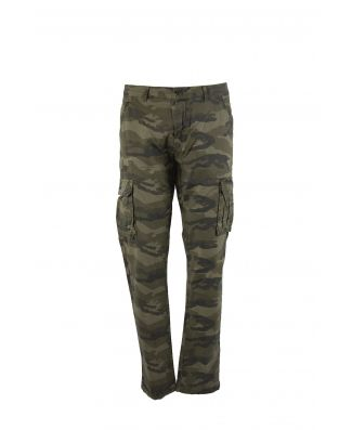 Be Board Pantalone Cargo Elasticizzato Cotone Mimetico Uomo