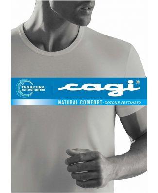 T - Shirt  Uomo Cagi Mezza Manica  Art 71328 Taglie Forti 3 Pezzi
