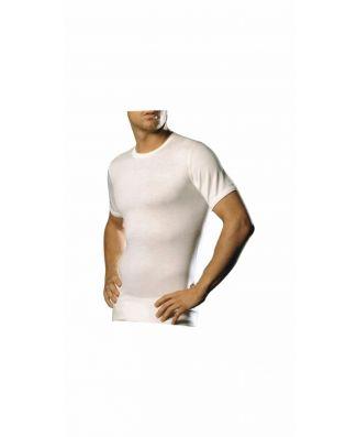 Madiva 3 T-Shirt Mezza Manica Uomo Lana Cotone Vulcano Made in Italy