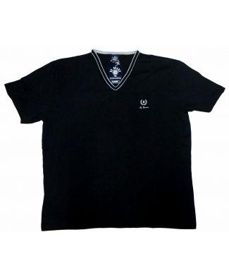 T Shirt Uomo Manica Corta Scollo a V Taglie Forti Be Board Art 915Conf