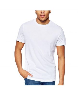 Set 6 Pezzi T-shirt 3001 Uomo Manica Corta Girocollo Puro Cotone Map Bianco