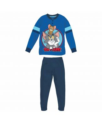 Pigiama Tom & Jerry Lungo Interlock Serafino Bambino