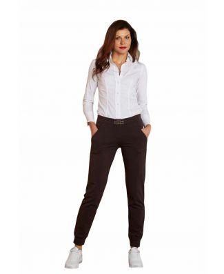 Pantalone Lungo Sportivo Donna Con Polsino Oxigym Art BL861 Cotone Pesante