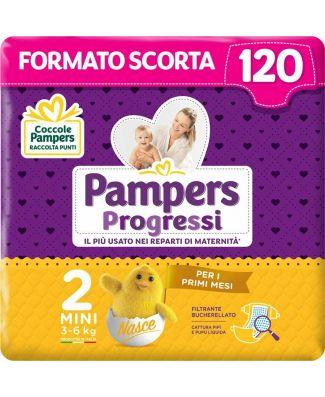 Pampers 120 Pannolini Progressi Newborn Taglia 2