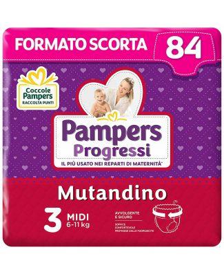 Pampers Progressi Mutandino Midi  84 Pannolini  Taglia 3 (6-11Kg)