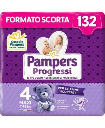 Pampers Progressi Maxi  132 Pannolini  Taglia 4 (7-18KG)